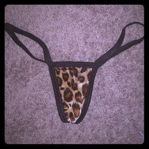 Other - Leopard print g string